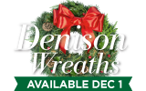Denison Christmas Wreaths are now available