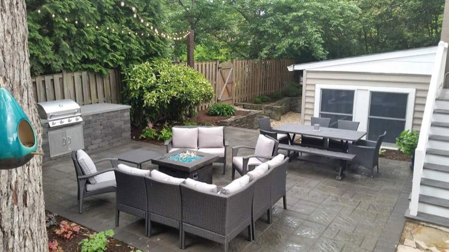 Galvez Outdoor Kitchen by Denison Landscaping